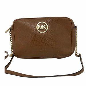 Michael Kors Bag Crossbody East West Leather Brown